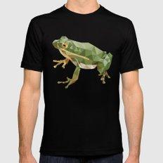 Geometric Frog MEDIUM Black Mens Fitted Tee