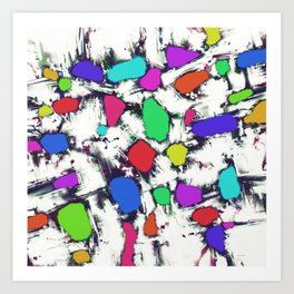 Candy scatter Art Print