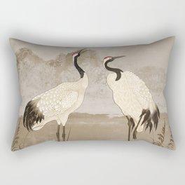 Wintering Manchurian Cranes Rectangular Pillow