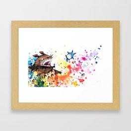 """""""Blown away"""" Framed Art Print"""