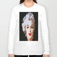 monroe Long Sleeve T-shirts featuring Monroe by The Art Of Gem Starr