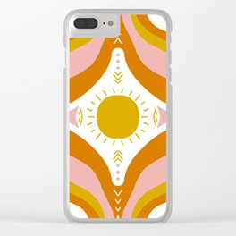 sunshine mandala Clear iPhone Case