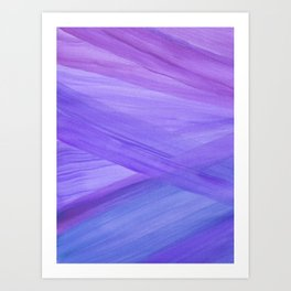 Purple Abstract Lines Art Print
