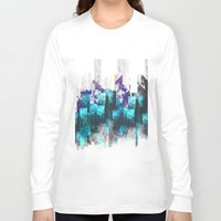 cities Long Sleeve T-shirts featuring Cold cities by HappyMelvin