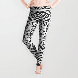 Traditional Aztec Ethnic Pattern Design Leggings