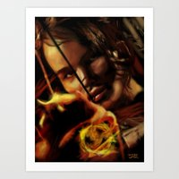 katniss Art Prints featuring Katniss by tgronberg