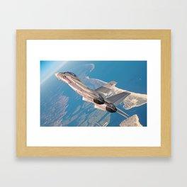 High Above Long Island Framed Art Print