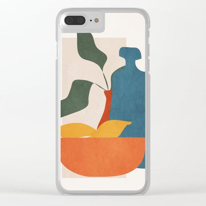 Minimalist Still Life Art Clear iPhone Case