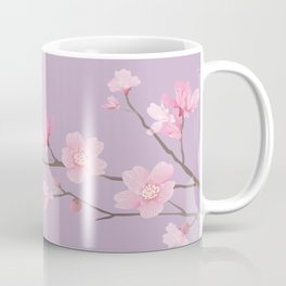 Cherry Blossom - Pale Purple Coffee Mug