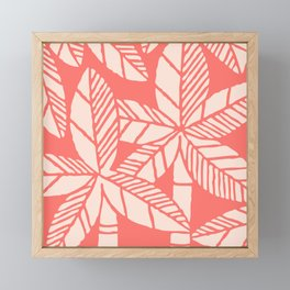 Tropical Palm Tree Composition Coral Framed Mini Art Print