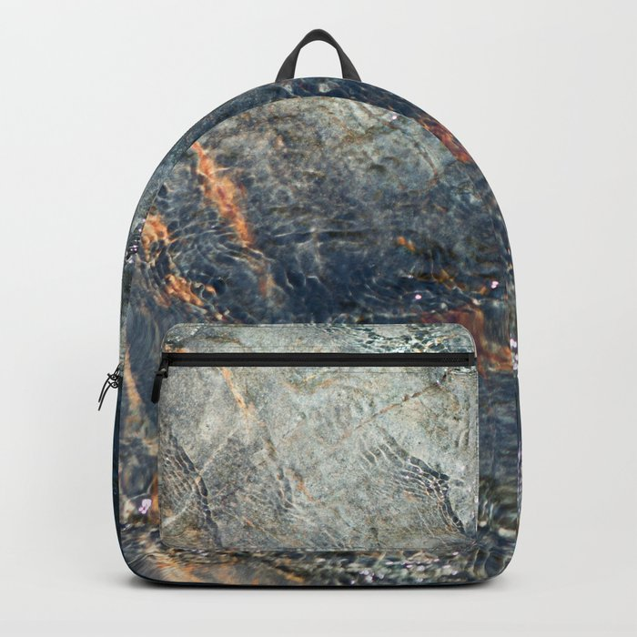 Water, Iron & Stone (Fallen Leaf Lake, California) Backpack