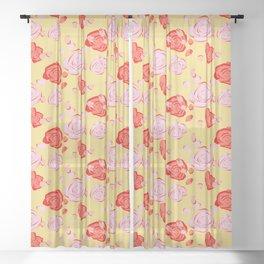 Roses pattern 3b Sheer Curtain