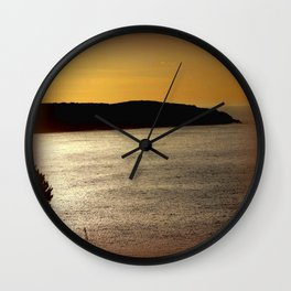 Sunsetting at Portland Wall Clock