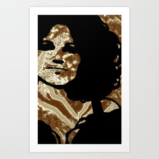 Gold Power Art Print