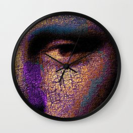 Mona Lisa Eyes 1 Wall Clock