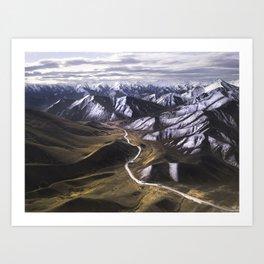 Driving Through A Dream (New Zealand) Art Print