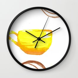 cafe yellow Wall Clock