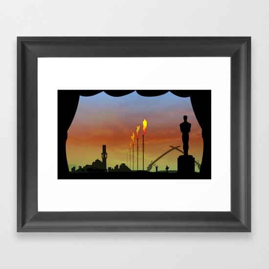 And the Oscar goes to: Weapons of mass destruction Framed Art Print