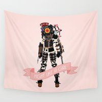 bioshock Wall Tapestries featuring Fight Like a Girl: Big Sister by Dorothy Leigh