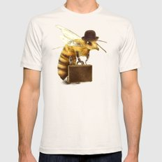 Worker Bee Natural LARGE Mens Fitted Tee