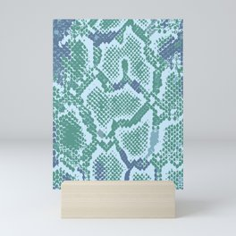 Snakeskin in green Mini Art Print
