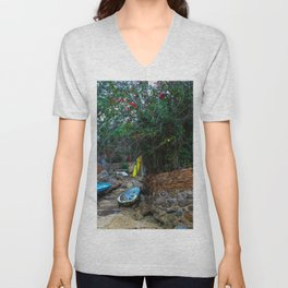 Dreamy Beach View Unisex V-Neck