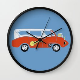 The  Monkeemobile Van Wall Clock