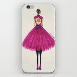 Pink Tulle iPhone Skin