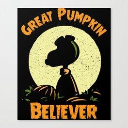 Great Pumpkin Believer - Pumpkin Shirt - Funny Pumpkin Halloween Costume Canvas Print