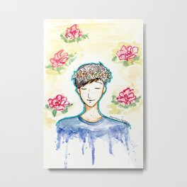 Phil Lester - Flowers Metal Print