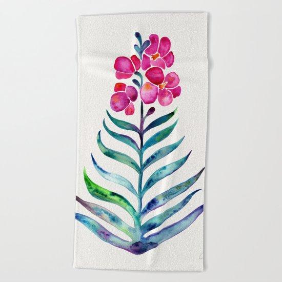 Blooming Orchid – Fuchsia & Indigo Palette Beach Towel