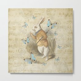 White Rabbit - Alice In Wonderland Metal Print