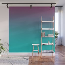OCEANIC LOVE - Minimal Plain Soft Mood Color Blend Prints Wall Mural