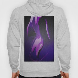Nude In Lilac and PurplePurple Young Beautiful Nude Woman With Towel Hoody