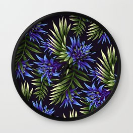 Aechmea Fasciata - Blue/Green Wall Clock