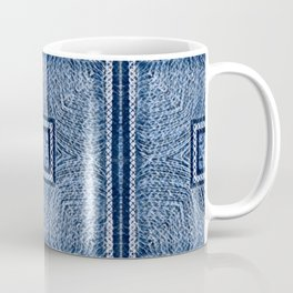 Square Mandala (Blue) Coffee Mug
