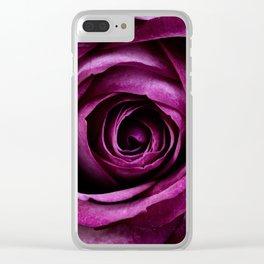 Aubergine Rose Clear iPhone Case