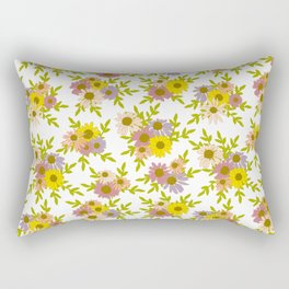 Autumnal Coneflowers and Daisies Rectangular Pillow