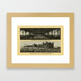Coney Island - Iron Pier  Framed Art Print