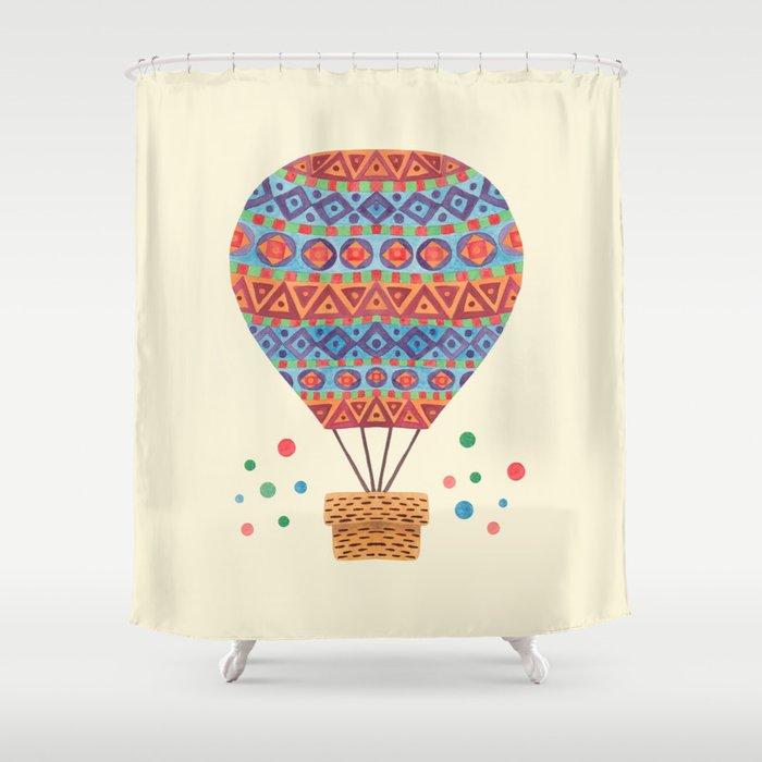 Hot Air Balloon Shower Curtain By