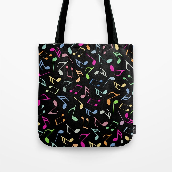Music Colorful Notes II Tote Bag