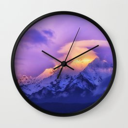 Meili Snow Mountain Shangri-la China Sunrise Wall Clock