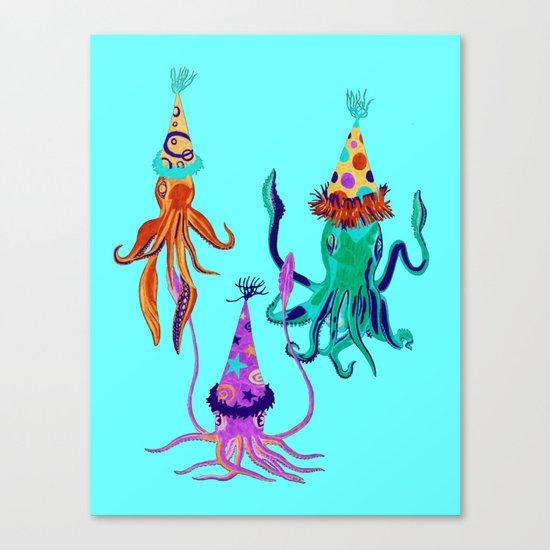 Party Squids Canvas Print