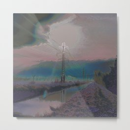 Powerlines IV Metal Print