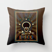 panic at the disco Throw Pillows featuring Panic at the disco by mangulica illustrations