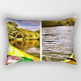 Kayaking the Eno Rectangular Pillow
