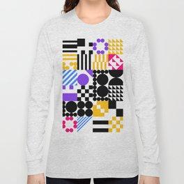 RAND PATTERNS #0: Procedural Art Long Sleeve T-shirt