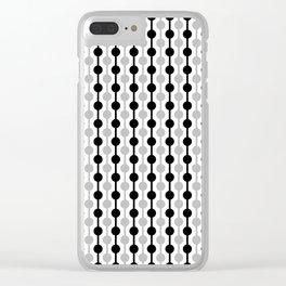 Geometric Multi Droplets Pattern - Black White Grey Clear iPhone Case