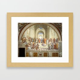 Raphael - The School of Athens Framed Art Print