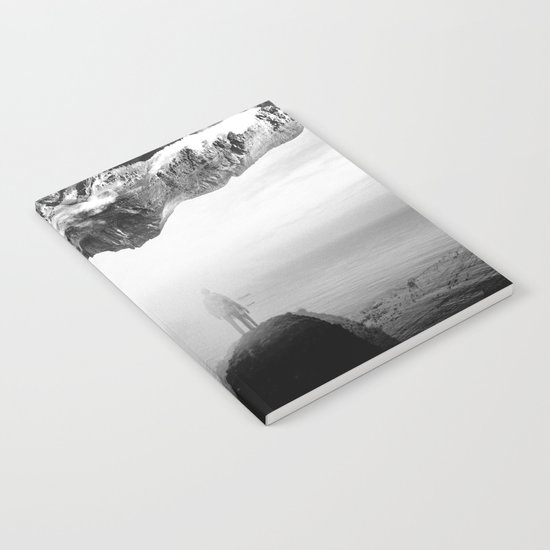 Black and White Ghost of Isolation Notebook